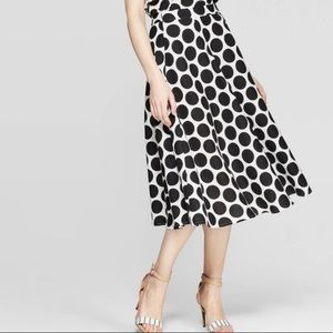 Who What Wear Skirts - Polka Dot Mid-Rise Circle Skirt And Blouse XS